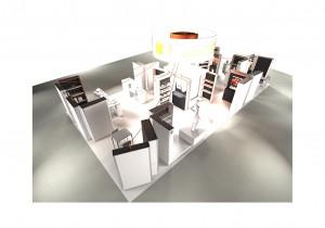 Stand NSE by Picom, scénographie réalisée par l'agence Guillaume Da Silva Architecture intérieure - Lille - Paris - France