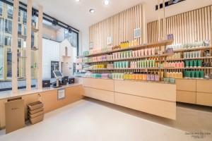 bois flotté, architecture intérieure, boutique, avril, bio, metz, maquillage, naturel