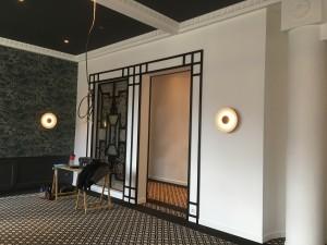 La table du Golf ****, Golf Hôtel, brides les bains, station thermale, architecture intérieure guillaume da silva, architecture art déco, réhabilitation et rénovation, décoration du restaurant