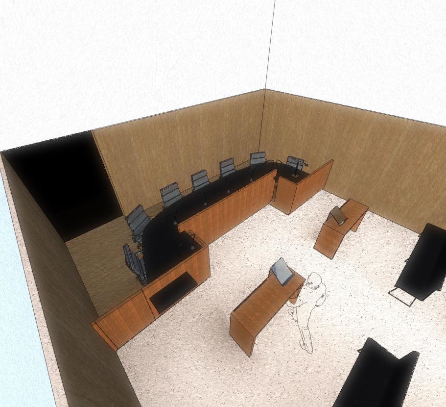 Administrative court rooms and reception desk renovation lille 59 france guillaume da silva - Guillaume da silva ...